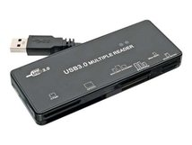 InLine - Kartenleser - All-in-one (CF I, CF II, MS, SD, xD, miniSD, CF, RS-MMC, TransFlash, SDHC, MS Micro, MS PRO-HG Duo, SDXC, MS XC) - USB 3.0