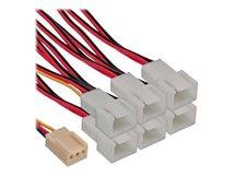 InLine - Netzsplitter für Lüfter - Molex, 3-polig (W) bis Molex, 3-polig (M)
