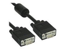 InLine - VGA-Kabel - HD-15 ohne Pol 9 (M) bis HD-15 ohne Pol 9 (M) - 1 m - geformt - Schwarz