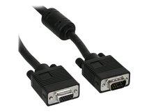 InLine - VGA-Verlängerungskabel - HD-15 ohne Pol 9 (M) bis HD-15 ohne Pol 9 (W) - 30 cm - geformt - Schwarz