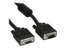InLine - VGA-Verlängerungskabel - HD-15 ohne Pol 9 (M) bis HD-15 (VGA) (W) - 50 cm - geformt - Schwarz