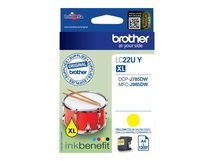 LC22UY - XL - Gelb - Original - Tintenpatrone - für Brother DCP-J785DW, DCP-J785DWXL, MFC-J985DW; INKvestment Work Smart MFC-J985DW