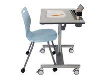 LearnFit SE2 Short - Sitz-/ Stehtisch - mobil - rechteckig - Medium Grey