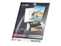 Leitz - 25 - glänzend, kristallklar - A4 (210 x 297 mm) Taschen für Laminierung