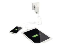 Leitz Complete - Netzteil - 4.8 A - 4 Ausgabeanschlussstellen (4 x USB) - weiß - Großbritannien und Nordirland, Vereinigte Staaten, Europa