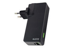 Leitz Complete USB Travel Wall Charger and Power Bank 3000 - Power Bank / Stromadapter - Li-Pol - 3000 mAh - 10.5 Watt - 2.1 A (USB)