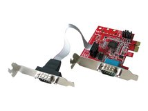 Lindy 2 Port Low Profile Serial Card - Serieller Adapter - PCIe Low-Profile - RS-232 x 2