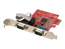 Lindy 2 Port Serial RS-232 - Serieller Adapter - PCIe - RS-232 x 2