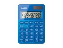 LS-100K - Desktop-Taschenrechner - 10 Stellen - Solarpanel, Batterie - Metallisch Blau