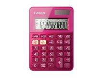 LS-100K - Desktop-Taschenrechner - 10 Stellen - Solarpanel, Batterie - metallisch rosa