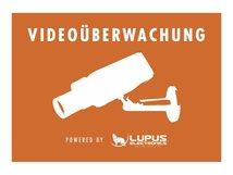 LUPUS - Sicherheitssystem-Warnetikett