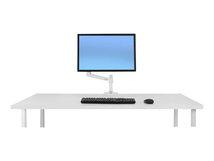 LX Desk Monitor Arm - Befestigungskit (Gelenkarm, Spannbefestigung für Tisch, Stange, Erweiterungshalterung) für LCD-Display - Aluminium, haltbarer Stahl - weiß - Bildschirmgröße: bis zu 86,4 cm (bis zu 34 Zoll) - Schreibtisch