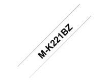 M-K221BZ - Schwarz auf Weiß - Rolle (0,9 cm x 8 m) 1 Rolle(n) Etikettenband - für P-Touch PT-55, PT-65, PT-75, PT-80, PT-85, PT-90, PT-BB4, PT-M95