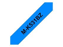 M-K531BZ - Schwarz auf Blau - Rolle (1,2 cm x 8 m) 1 Kassette(n) nicht-laminiertes Schriftband - für P-Touch PT-55, PT-65, PT-75, PT-85, PT-90, PT-BB4
