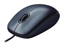 M100 - Maus - rechts- und linkshändig - optisch - 3 Tasten - kabelgebunden