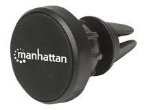 Manhattan Kfz-Halterung mit Magnetpad für Smartphones, Lässt sich auf das Lüftungsgitter des Autos aufstecken, rutschfest, schwarz - Magnetische Halterung für Handy - Schwarz