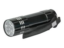 Manhattan LED Aluminum Torch/Flashlight (promo), Bright 45 Lumen Output, 9 LEDs, Compact Format, Long Lasting Performance, 3x AAA batteries (included), Carry Loop, Black - Taschenlampe - LED - Schwarz