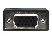 Manhattan SVGA Verlängerungskabel mit Ferritkernen, HD15 Stecker auf HD15 Buchse mit Ferritkernen, schwarz, 1,8 m - VGA-Verlängerungskabel - HD-15 (VGA) (M) bis HD-15 (VGA) (W) - 300 V - 1.8 m - geschirmt, geformt, Daumenschrauben