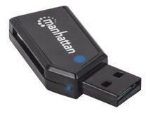 Manhattan USB 2.0 Mini Multi-Card Reader/Writer, USB-A-Stecker, externer Card Reader/Writer, 24-in-1, besonders kompakt - Kartenleser - 24 in 1 (MMC, SD, RS-MMC, MMCmobile, microSD, MMCplus, SDHC, microSDHC, SDXC, microSDXC) - USB 2.0