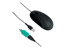 - Maus - optisch - 3 Tasten - kabelgebunden - PS/2, USB