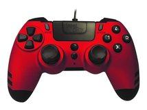 MetalTech - Game Pad - kabelgebunden - Rubinrot - für PC, Sony PlayStation 3, Sony PlayStation 4