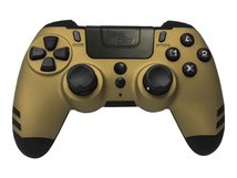 MetalTech - Game Pad - kabellos - 2.4 GHz - Gold - für PC, Sony PlayStation 3, Sony PlayStation 4
