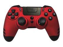 MetalTech - Game Pad - kabellos - 2.4 GHz - Rubinrot - für PC, Sony PlayStation 3, Sony PlayStation 4