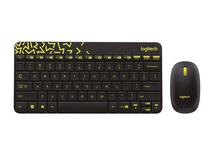 MK240 NANO, Standard, Wireless, RF Wireless, Black, Gelb, Maus enthalten