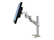 Neo-Flex Extend LCD Arm - Befestigungskit (Pivot, 2 Verlängerungsarme, Tisch-Klemme, Befestigung für Kabeldurchgang) für LCD-Display - Aluminium, pulverbeschichteter Stahl, hochwertiger Kunststoff - Silber - Bildschirmgröße: bis zu 61 cm (bis zu 24 Zoll)