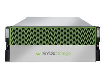 Nimble Storage Adaptive Flash CS1000 - Solid state / hard drive array - 42 TB - HDD 2 TB x 21 + SSD 960 GB x 3 - 8Gb Fibre Channel, iSCSI (1 GbE), iSCSI (10 GbE), 16Gb Fibre Channel (extern) - Rack