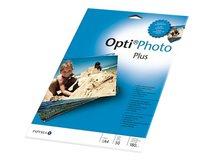 Opti Photo Plus - Hochglänzend - hochweiß - A4 (210 x 297 mm) - 180 g/m² - 50 Blatt Fotopapier