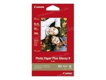 Photo Paper Plus Glossy II PP-201 - Glänzend - 100 x 150 mm - 260 g/m² - 50 Blatt Fotopapier - für PIXMA iP2600, iP2700, iP3500, iX7000, MG2555, MG8250, mini320, MP520, MX7600, MX850