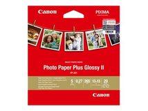 Photo Paper Plus Glossy II PP-201 - Hochglänzend - 270 Mikron - 130 x 130 mm - 265 g/m² - 20 Blatt Fotopapier