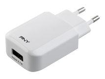 PNY Fast Charger - Netzteil - 72 Watt - 3 A - 4 Ausgabeanschlussstellen (USB, USB-C) - weiß