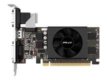 PNY GeForce GT 710 - Grafikkarten - GF GT 710 - 2 GB GDDR5 - PCIe 2.0 x16 Low-Profile - DVI, D-Sub, HDMI