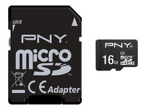 PNY Performance 2015 - Flash-Speicherkarte (microSDHC/SD-Adapter inbegriffen) - 16 GB - UHS Class 1 / Class10 - microSDHC UHS-I