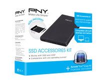 "PNY SSD Accessories Kit - Speichergehäuse - 2.5"" (6.4 cm) - USB 3.0"