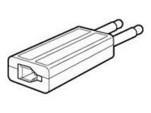 Poly - Gabel-Adapter - PJ-327 (M) - Schwarz - für CA 10; Vista