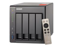 QNAP TS-451+ - NAS-Server - 4 Schächte - 12 TB - SATA 6Gb/s - HDD 3 TB x 4