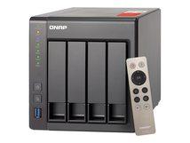 QNAP TS-451+ - NAS-Server - 4 Schächte - 4 TB - SATA 6Gb/s - HDD 1 TB x 4