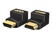 RaidSonic ICY BOX IB-CB009-1 - HDMI-Adapter - HDMI (M) bis HDMI (W) - Schwarz - 4K Unterstützung (Packung mit 2)
