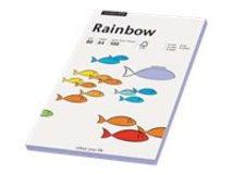 Rainbow - Hellgelb, pink, Hellblau, Hellgrün, Chamois hell - A4 (210 x 297 mm) - 80 g/m² - 100 Blatt Normalpapier