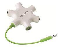 RockStar - Kopfhörer-Splitter - Stereo Mini-Klinkenstecker (M) bis Stereo Mini-Klinkenstecker (W) - Schwarz