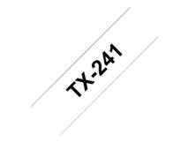 - Schwarz auf Weiß - Rolle (1,8 cm) 1 Rolle(n) laminiertes Band - für P-Touch PT-300, PT-350, PT-7000, PT-8000, PT-PC