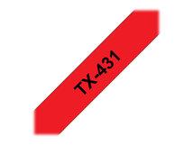 - Schwarz, Rot - Rolle (1,2 cm) 1 Rolle(n) Etiketten
