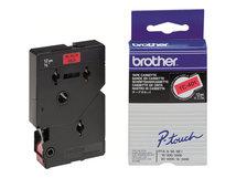 - Schwarz, Rot - Rolle (1,2 cm x 7,7 m) 1 Stck. Druckerband - für P-Touch PT-15, PT-20, PT-2000, PT-3000, PT-500, PT-5000, PT-6, PT-8, PT-8E