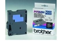 - Schwarz, weiß - Rolle (0,6 cm x 15,2 m) 1 Rolle(n) laminiertes Band - für P-Touch PT-7000, PT-8000, PT-PC