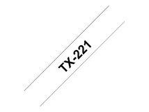 - Schwarz, weiß - Rolle (0,9 cm x 15,2 m) 1 Rolle(n) laminiertes Band - für P-Touch PT-7000, PT-8000, PT-PC