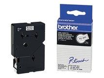 - Schwarz - weiß - Rolle (1,2 cm) 1 Rolle(n) Etiketten - für P-Touch PT-15, PT-20, PT-6