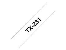 - Schwarz, weiß - Rolle (1,2 cm x 15,2 m) 1 Rolle(n) laminiertes Band - für P-Touch PT-7000, PT-8000, PT-PC